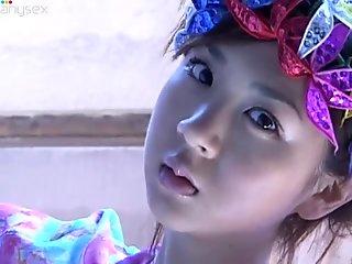Curvy pale skin beauty Aki Hoshino loves wearing shiny lingerie